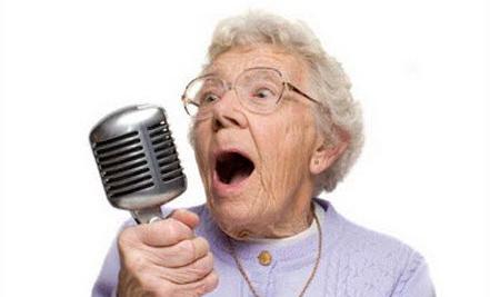 Elderly-Lady-Singing
